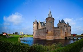 Picture castle, Netherlands, Holland, Muiden Castle