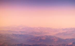 Picture mountains, dawn, minimalism, mountains, sundown, Elia Pellegrini