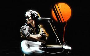 Picture Music, Movie, Art, Rock, Viktor Tsoi, Choi, Retrowave, 1980s, Synthwave, Sergey Orlov, by Sergey Orlov, …