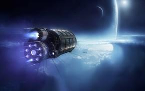 Picture Clouds, Planet, Space, Ship, Planet, Planets, Art, Space, Spaceship, Satellite, Planet, Kassandra, Fiction, Fiction, Transport, …