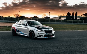 Picture sunset, the evening, BMW, racing track, 2018, Competition, F87, BMW M2, M Performance Accessories