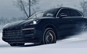 Picture HDR, Porsche, Drift, Winter, Snow, Turbo, Game, Cayenne, SUV, Trees, Offroad, Porsche Cayenne Turbo, UHD, …