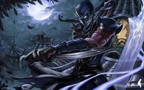 Picture night, ninja, Shen, League Of Legends