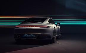 Picture 911, Porsche, rear view, Carrera 4S, 2019