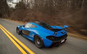 Picture McLaren, Blue, The demon, Hypercar, Hybrid, P1