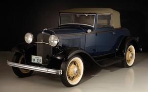 Picture auto, retro, Ford, 1932, Cabriolet, V8