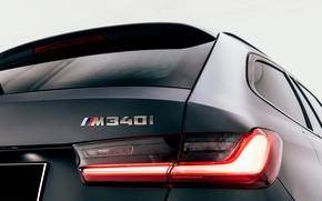 Picture BMW, lantern, spoiler, 3-series, universal, feed, 3P, 2020, G21, M340i xDrive Touring
