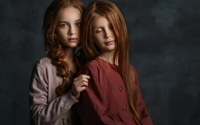 Picture portrait, friend, two girls, Hizhnyakova Alexander
