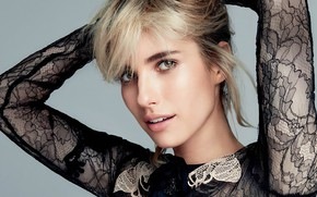 Picture look, girl, face, pose, model, actress, lips, beauty, Emma Roberts