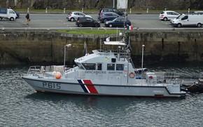 Picture pier, boat, the coast guard