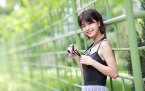 Picture girl, smile, the camera, Asian