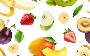 Picture white, background, texture, fruit