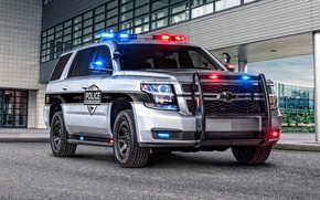 Picture car, machine, lights, the building, Chevrolet, SUV, Police, wheel, flashers, Tahoe, strobe lights, police car, …