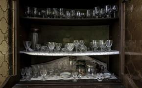 Picture glasses, glasses, buffet