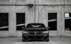 Picture black, coupe, BMW, front view, Gran Coupe, 2020, 8-Series, 2019, the four-door coupe, M850i xDrive, …