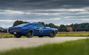 Picture Ford, 1969, Ford Mustang, Muscle car, Mach 1, Classic car, Sports car, The road Leading …