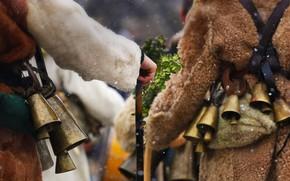 Picture costume, bell, Bulgaria