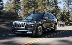 Picture road, Lincoln, speed, Aviator, 2020