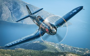 Picture Sea, Fighter, Red Bull, Pilot, Corsair, Chance Vought F4U Corsair, The Second World War, F4U …