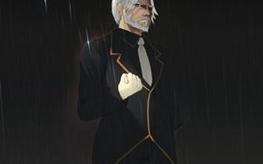 Picture rain, male, Butler