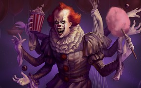 Picture clown, art, many hands, Artwork, It, Pennywise, Pennywise, Spiderwise
