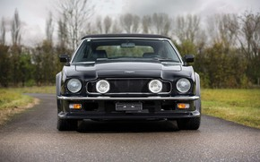 Picture Lights, Black, Front view, Aston Martin V8 Vantage Volante