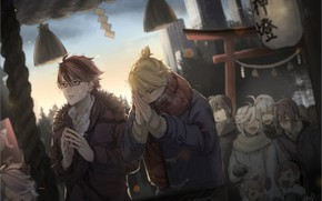 Picture people, anime, art, guys, prayer