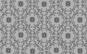 Picture grey, background, pattern, ornament
