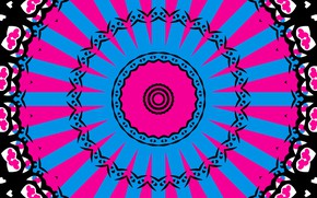 Picture rays, pattern, bright, kaleidoscope