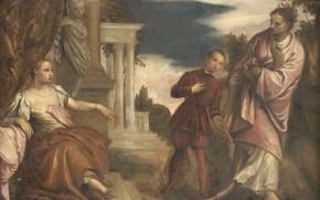 Picture oil, picture, canvas, 1680, Paolo Veronese, Paolo Veronese, Выбор Между Добродетелью и Страстью
