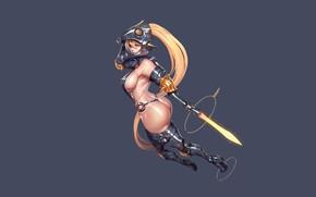 Picture Girl, Ass, Minimalism, Style, Girl, Sword, Fantasy, Erotic, Art, Beautiful, Art, Style, Figure, Weapon, Minimalism, ...