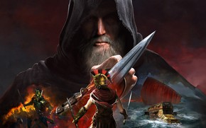 Picture battle, male, Video Games, Assassin's Creed : Odyssey