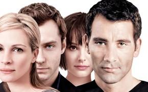 Picture Natalie Portman, Jude Law, Clive Owen, Julia Roberts, Closer, The proximity