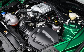 Picture engine, Mustang, Ford, Shelby, GT500, 2020, V8, Green Hornet, EXP 500