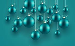 Picture holiday, balls, Christmas, postcard, Christmas