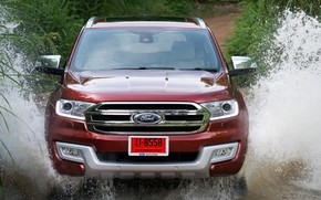 Picture squirt, Ford, front, Everest, 2015