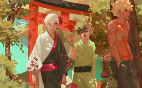 Picture mask, guys, candy, keychain, Boku no Hero Academy, Midori Isuku, Todoroki Shoto, My heroic academia, …