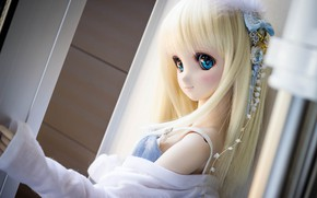 Picture eyes, girl, doll, blonde