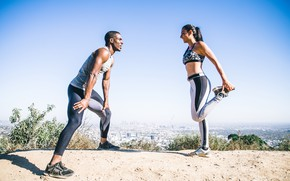 Picture couple, run, workout