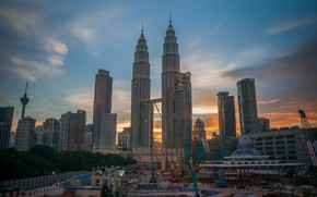 Picture the city, construction, building, Malaysia, Kuala Lumpur, cranes
