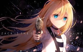 Picture look, girl, pistolet, Angel bloodshed, Satsuriku no Tenshi