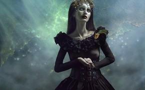 Picture girl, nebula, photoshop, photoart