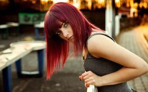 Picture look, girl, bridge, pose, hair, beautiful