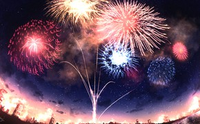 Picture the sky, the city, fireworks