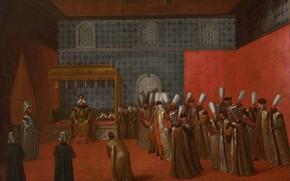 Picture oil, picture, canvas, 1737, Жан Батист Ван Мур, Jean Baptiste Vanmour, Посол на аудиенции у …