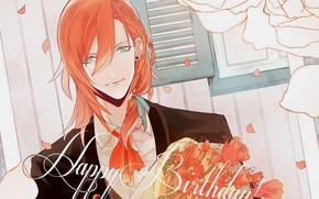 Picture bouquet, anime, art, guy, Uta no Prince-sama
