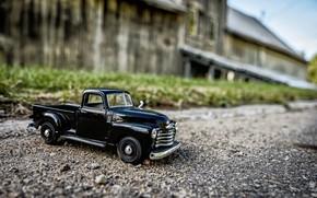 Picture road, auto, toy, gravel, pickup, miniature, model