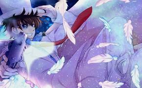 Picture gun, anime, art, guy, Detective Conan, Magic Kaito