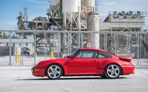 Picture Red, Porsche 911, Germany, Turbo, 993, Sportcar
