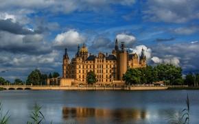 Picture castle, Germany, Schwerin